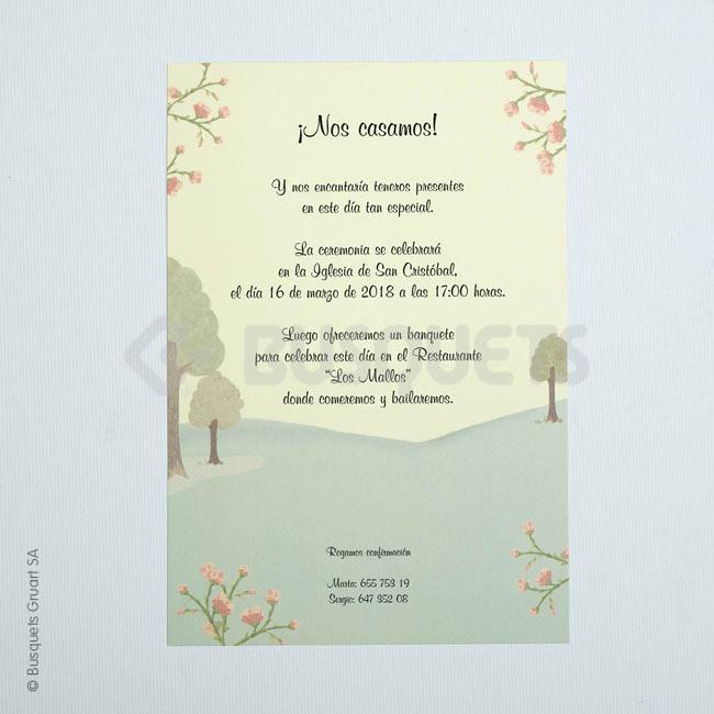 Invitación Boda 18929