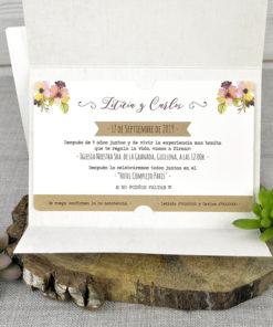 Invitación Boda 39322