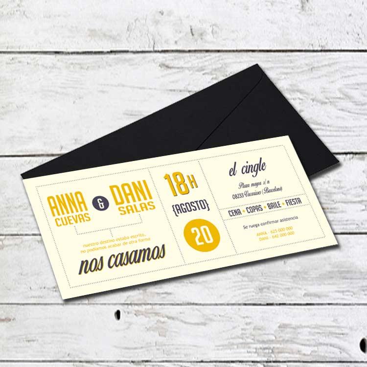 Invitación Boda GK-165042