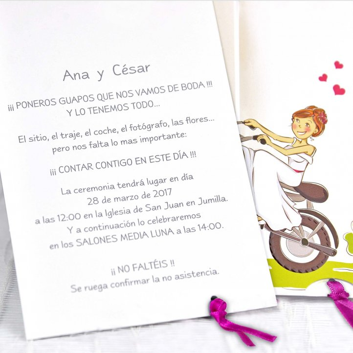 Invitación Boda 39132