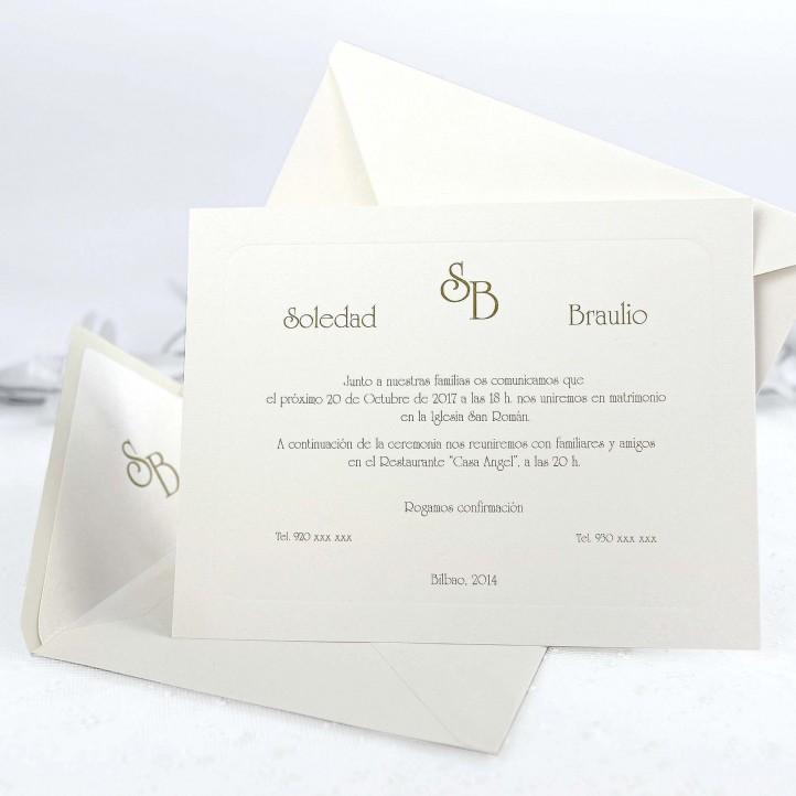Invitación Boda 32837