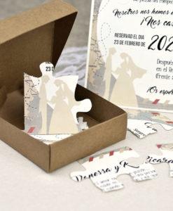 Invitaciones Puzzle